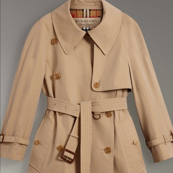 Burberry Jackets   Coats   Exaggerated Collar Cotton Gabardine ... a7123fa83a9